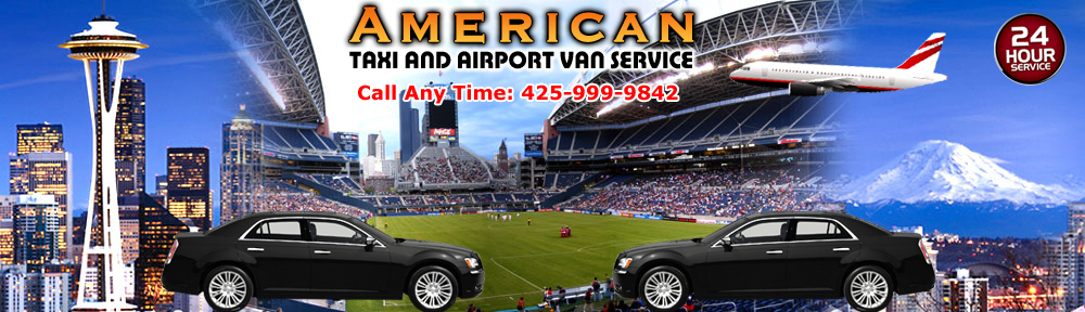 American taxi and airport van service taxi service in for Door 00 seatac airport